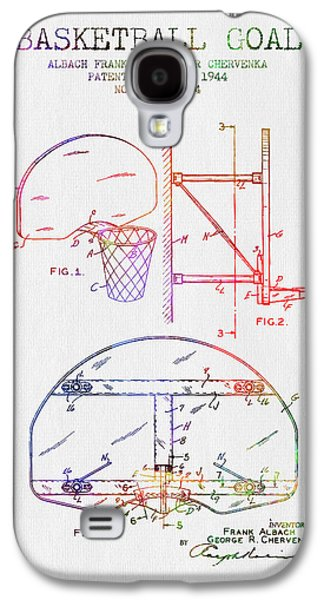 Dunk Galaxy S4 Cases - 1944 Basketball Goal Patent - Color Galaxy S4 Case by Aged Pixel