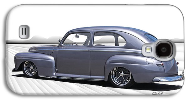 Slam Galaxy S4 Cases - 1947 Ford Sedan In Perspective Galaxy S4 Case by Dave Koontz