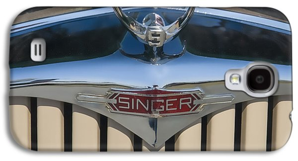 Car Mascot Digital Galaxy S4 Cases - 1950 Singer 9 Roadster Hood ornament Galaxy S4 Case by Chris Flees