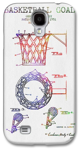 Slam Galaxy S4 Cases - 1951 Basketball Goal Patent - Color Galaxy S4 Case by Aged Pixel