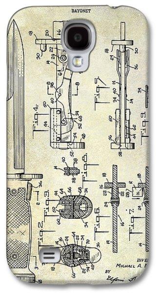 Bayonet Galaxy S4 Cases - 1955 Bayonet Patent Galaxy S4 Case by Jon Neidert