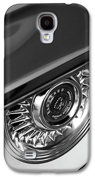 Car Part Photographs Galaxy S4 Cases - 1956 Cadillac Eldorado Wheel Black and White Galaxy S4 Case by Jill Reger