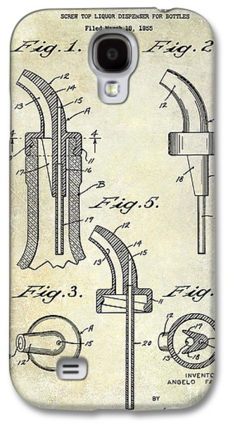 Pour Photographs Galaxy S4 Cases - 1958 Liquor Bottle Pour Patent Galaxy S4 Case by Jon Neidert