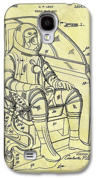 1962 Space Suit Patent Galaxy S4 Case by Dan Sproul