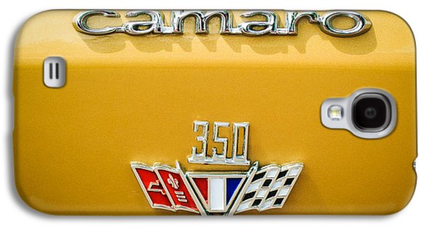 Sports Photographs Galaxy S4 Cases - 1967 Chevrolet Camaro 350 Emblem -0357c1 Galaxy S4 Case by Jill Reger