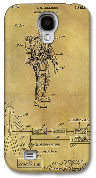 1967 Space Suit Patent Galaxy S4 Case by Dan Sproul