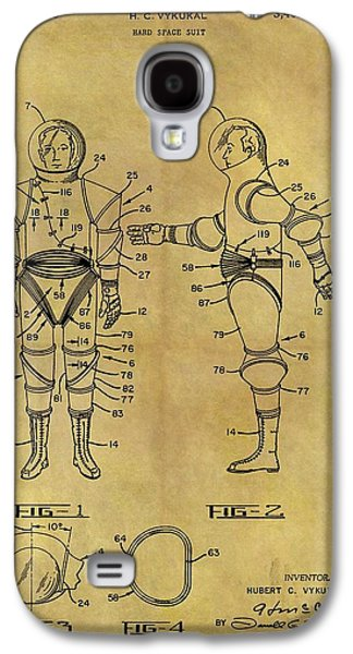 1968 Space Suit Patent Galaxy S4 Case by Dan Sproul