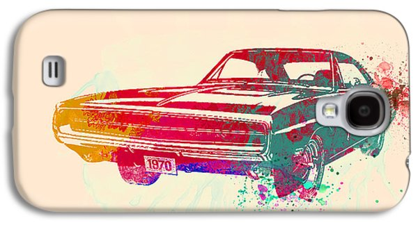 American Galaxy S4 Cases - 1970 Dodge Charger 1 Galaxy S4 Case by Naxart Studio