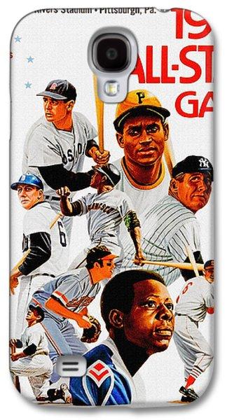 1974 Baseball All Star Game Program Galaxy S4 Case by Big 88 Artworks