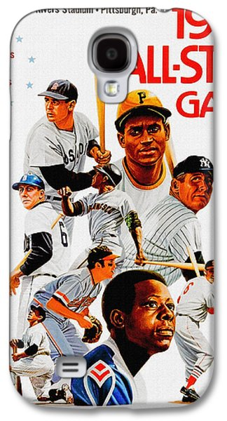 Roberto Clemente Paintings Galaxy S4 Cases - 1974 Baseball All Star Game Program Galaxy S4 Case by Big 88 Artworks