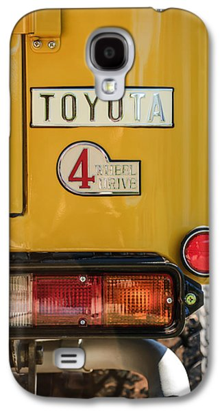 Photography Prints Galaxy S4 Cases - 1978 Toyota Land Cruiser FJ40 Taillight Emblem -1191c Galaxy S4 Case by Jill Reger