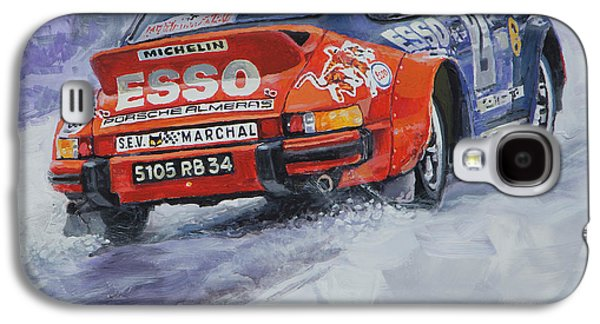 911 Galaxy S4 Cases - 1980 Rallye Monte Carlo Porsche 911 SC Hannu Mikkola  Galaxy S4 Case by Yuriy Shevchuk
