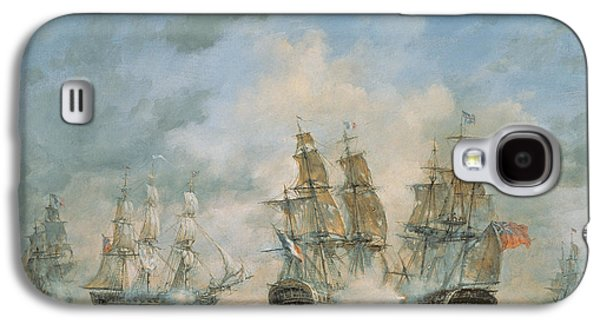 19th Century Naval Engagement In Home Waters Galaxy S4 Case by Richard Willis