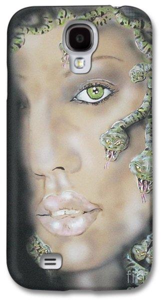 Jessica Alba Paintings Galaxy S4 Cases - 1st Medusa Galaxy S4 Case by John Sodja