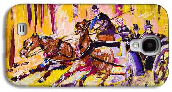 Horse And Buggy Paintings Galaxy S4 Cases - 31 Galaxy S4 Case by Gene Traganza