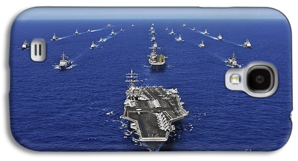 Reagan Galaxy S4 Cases - Aircraft Carrier Uss Ronald Reagan Galaxy S4 Case by Stocktrek Images