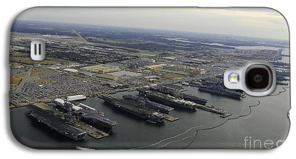 Enterprise Galaxy S4 Cases - Aircraft Carriers In Port At Naval Galaxy S4 Case by Stocktrek Images