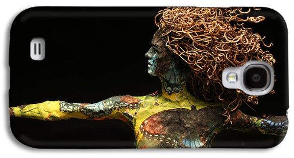 Person Mixed Media Galaxy S4 Cases - Alight a sculpture by Adam Long Galaxy S4 Case by Adam Long