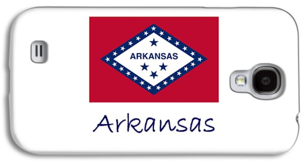 Waving Flag Mixed Media Galaxy S4 Cases - Arkansas Flag Galaxy S4 Case by Frederick Holiday