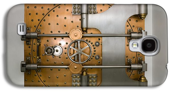Enterprise Galaxy S4 Cases - Bank Vault Door Exterior Galaxy S4 Case by Adam Crowley
