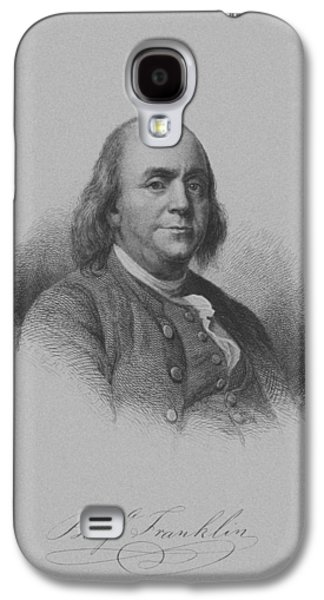 4th July Mixed Media Galaxy S4 Cases - Benjamin Franklin Galaxy S4 Case by War Is Hell Store