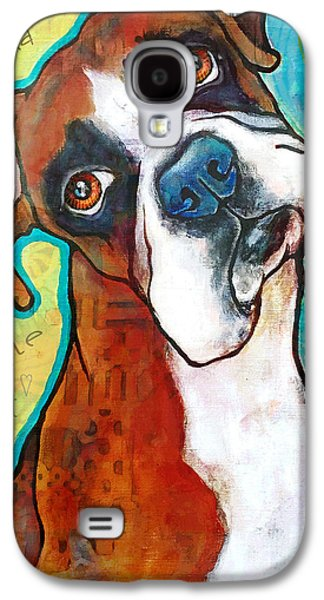 Boxer Love Galaxy S4 Case by Stephanie Gerace