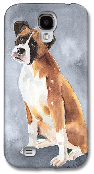 Boxer Galaxy S4 Cases - Buddy Galaxy S4 Case by Arline Wagner