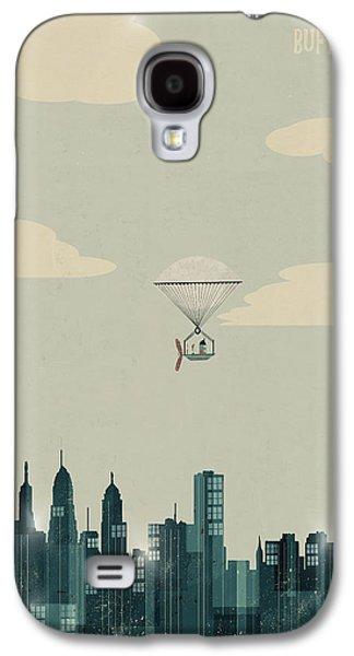 Buffalo Art Digital Art Galaxy S4 Cases - Buffalo City New York Galaxy S4 Case by Bri Buckley