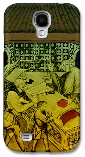 Butcher, Medieval Tradesman Galaxy S4 Case by Science Source