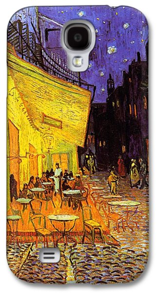 Cafe Terrace At Night Galaxy S4 Case by Van Gogh