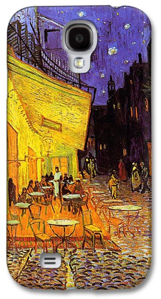 Vincent Van Gogh Galaxy S4 Cases - Cafe Terrace At Night Galaxy S4 Case by Van Gogh