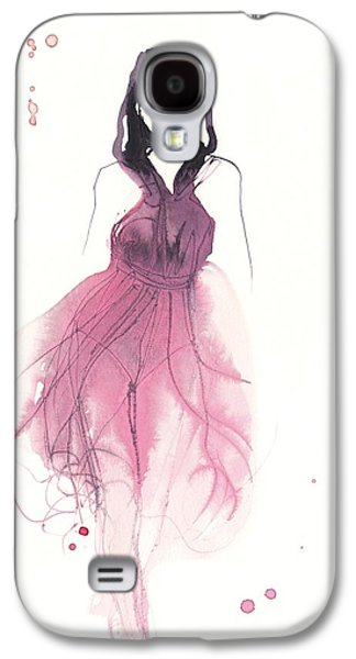 Modern Drawings Galaxy S4 Cases - Catwalk Galaxy S4 Case by Toril Baekmark
