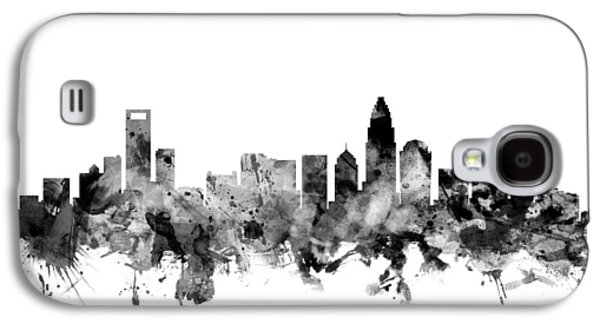 Charlotte Galaxy S4 Cases - Charlotte North Carolina Skyline Galaxy S4 Case by Michael Tompsett