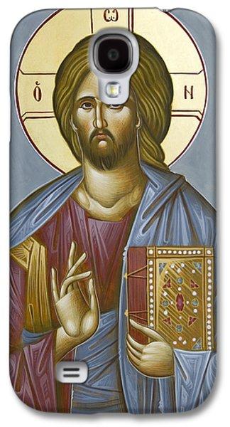 Greek Icon Paintings Galaxy S4 Cases - Christ Pantokrator Galaxy S4 Case by Julia Bridget Hayes