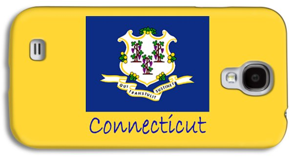 Waving Flag Mixed Media Galaxy S4 Cases - Connecticut Flag Galaxy S4 Case by Frederick Holiday