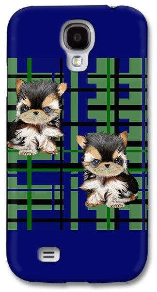 Puppy Digital Galaxy S4 Cases - 2 Cutest Puppy  Galaxy S4 Case by David Michael  Schmidt