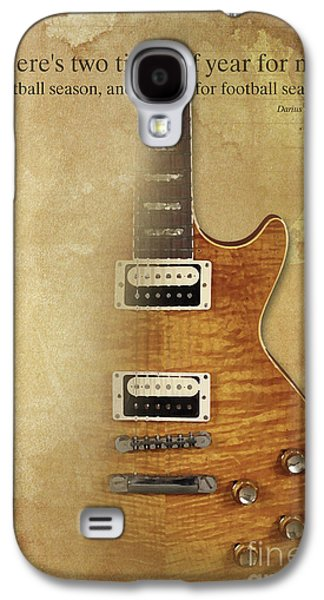 Darius Rucker Inspirational Quote, Electric Guitar Poster For Music Lovers And Musicians Galaxy S4 Case by Pablo Franchi