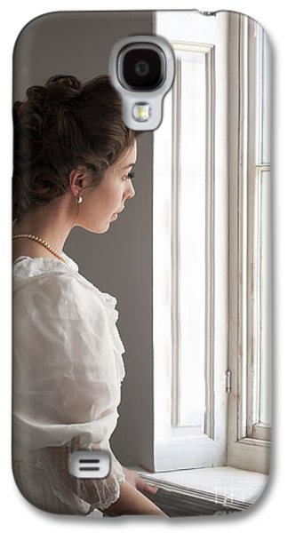 Contemplative Photographs Galaxy S4 Cases - Edwardian Woman At The Window Galaxy S4 Case by Lee Avison