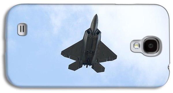 Men Galaxy S4 Cases - F-22 Raptor Galaxy S4 Case by Sebastian Musial