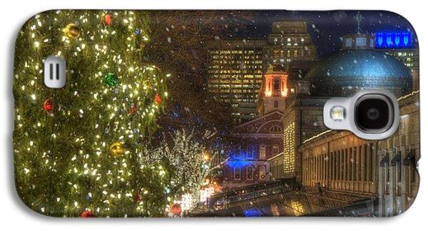 Faneuil Hall Christmas Galaxy S4 Case by Joann Vitali