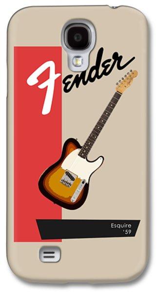 Guitar Galaxy S4 Cases - Fender Esquire 59 Galaxy S4 Case by Mark Rogan
