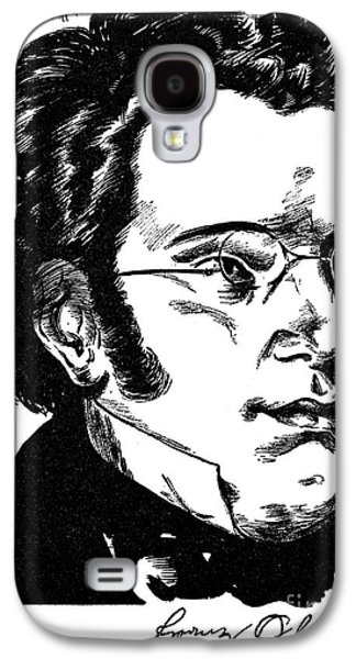 Pianist Photographs Galaxy S4 Cases - Franz Schubert (1797-1828) Galaxy S4 Case by Granger