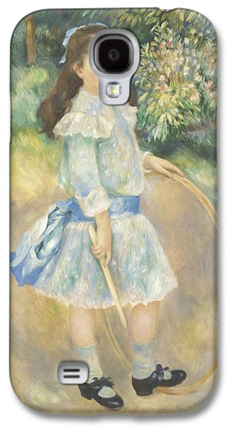 Girl With A Hoop Galaxy S4 Case by Pierre Auguste Renoir