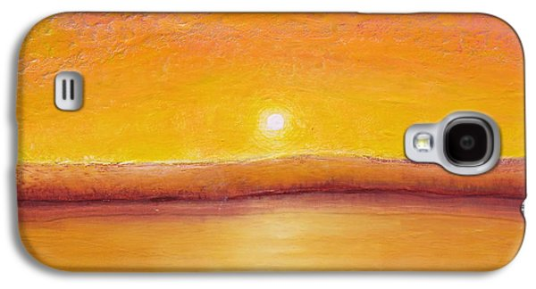 Sunset Abstract Galaxy S4 Cases - Gold Sunset Galaxy S4 Case by Jaison Cianelli