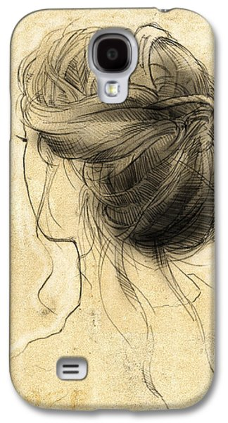 Loose Style Galaxy S4 Cases - Hair Study Galaxy S4 Case by H James Hoff