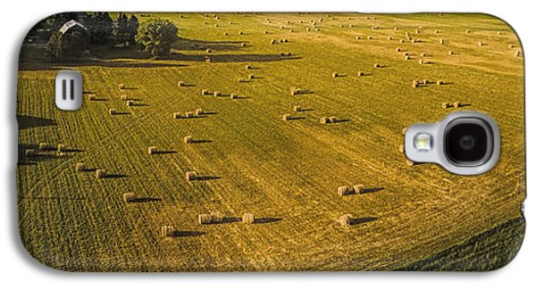 Haybale Galaxy S4 Cases - Haybales Galaxy S4 Case by Jack Johnson