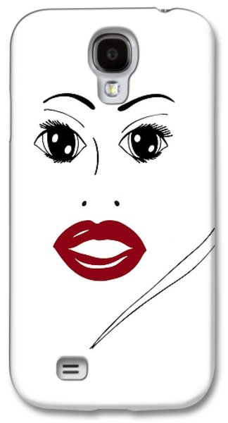 Hand Drawn Galaxy S4 Cases - Illustration of a woman in fashion Galaxy S4 Case by Frank Tschakert
