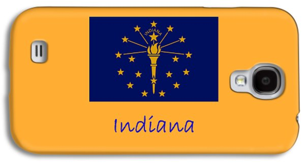 Waving Flag Mixed Media Galaxy S4 Cases - Indiana Flag Galaxy S4 Case by Frederick Holiday
