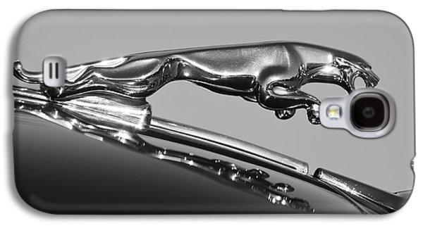 Car Mascots Galaxy S4 Cases - Jaguar Hood Ornament 2 Galaxy S4 Case by Jill Reger