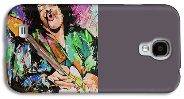 Bob Dylan Paintings Galaxy S4 Cases - Jimi Hendrix Galaxy S4 Case by Richard Day